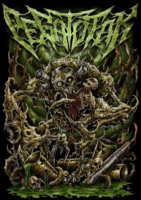 Pegat Otak Band Death Metal Pamanukan - Subang Cover Artwork Logo Font Wallpaper