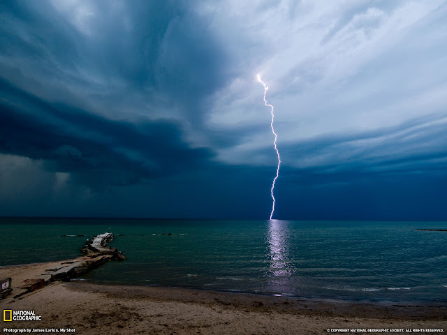 National Geographic Wallpapers Photography Thunder Sea