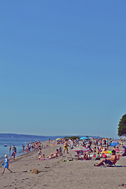 beach, sea, seattle, summer, sand, blue sky, lifestyle, neon, swimming