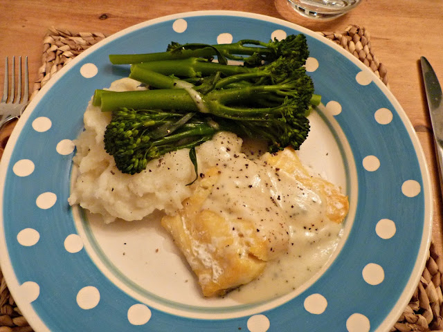 Smoked haddock with butter and sage sauce
