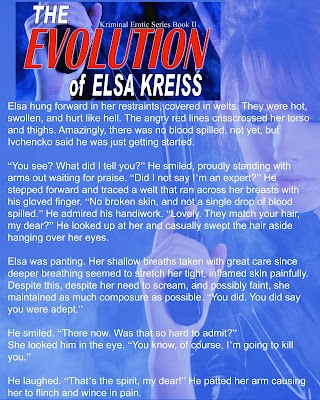 http://www.amazon.com/Evolution-Elsa-Kreiss-Kriminal-Erotic-ebook/dp/B011J9KZ9Q/ref=sr_1_1?s=digital-text&ie=UTF8&qid=1436995702&sr=1-1