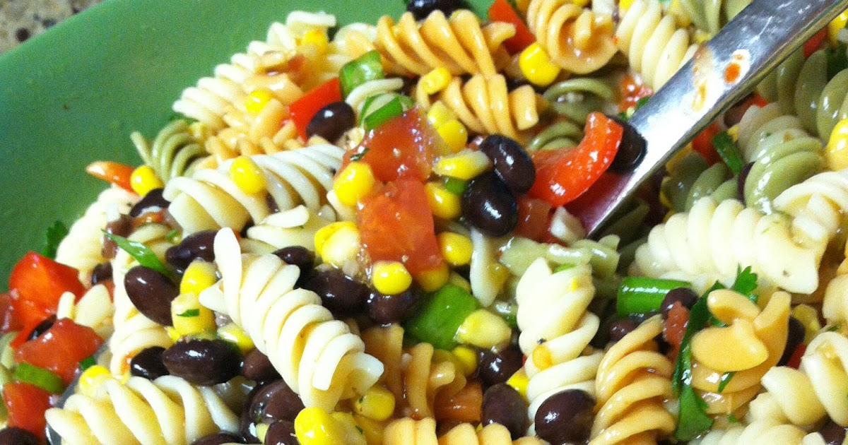 My Black Bean & Corn Pasta Salad...I love cold salads for lunch this time of year :) Enjoy!