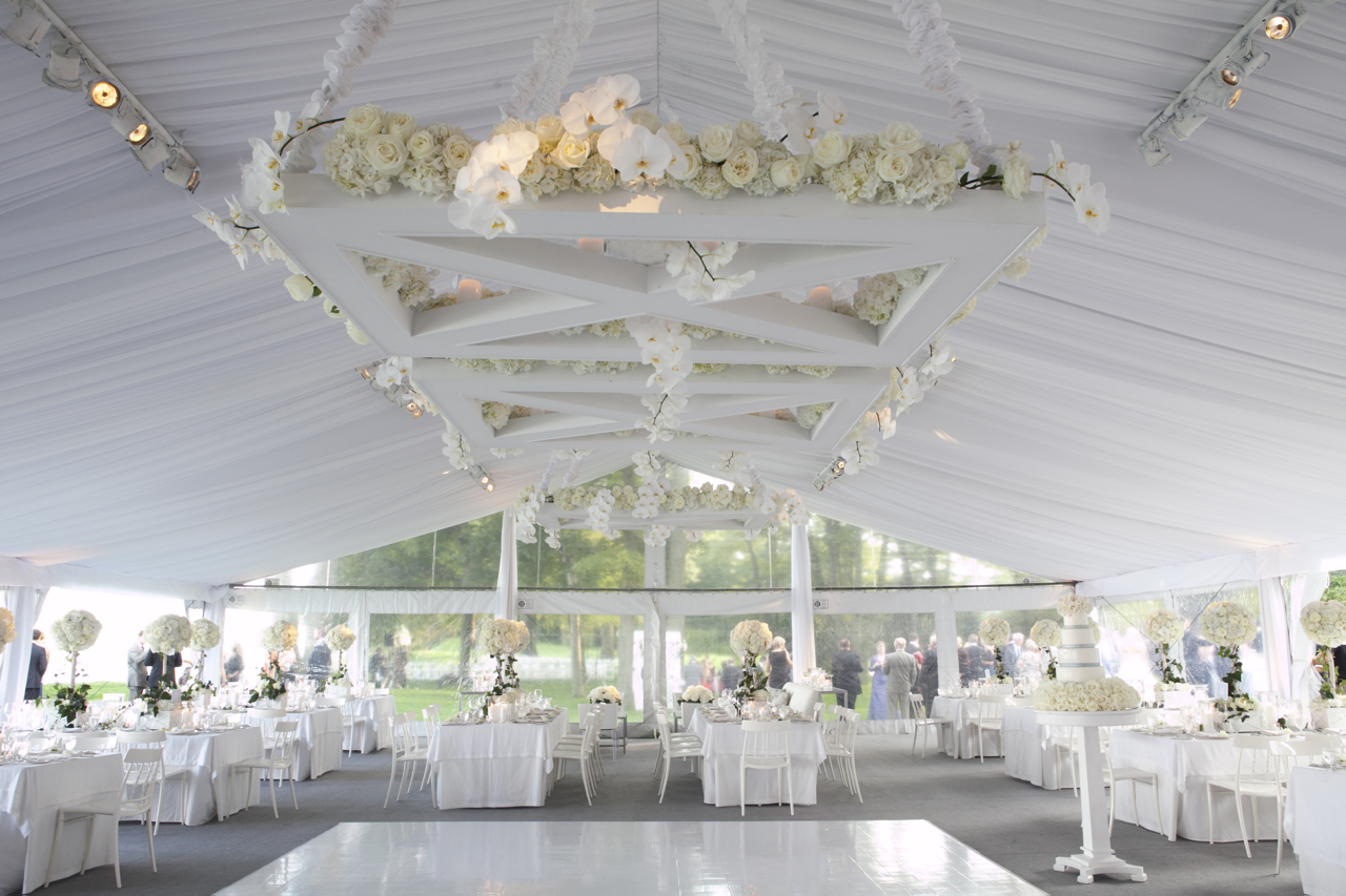 The Money Shot Gabi kept the vinyl tent sides on to keep guests out until Anthony had finished taking photos. This picture shows the massive floral pieces ... & She Said Spectacular!: May 2012