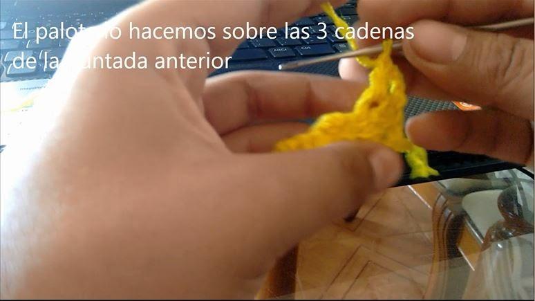 Puntada de Crochet Paso 8
