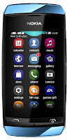 nokia Asha 305 blue, specs and price