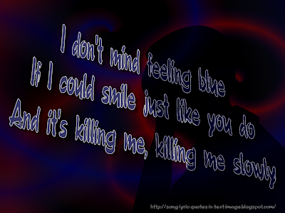 Killing Me - Robbie Williams Song Lyric Quote in Text Image