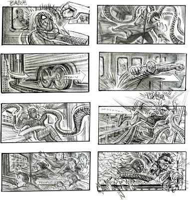 Storyboard - Spider-Man 2 - Train Fight Scene