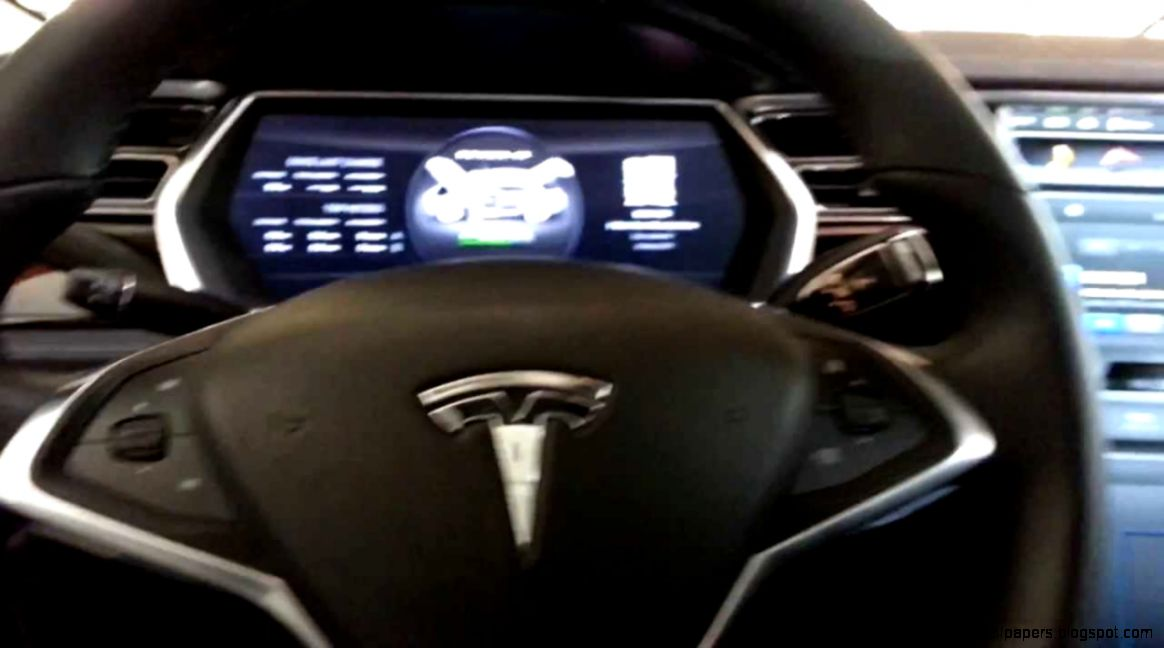 Tesla Model S interior   Electric luxury car   YouTube
