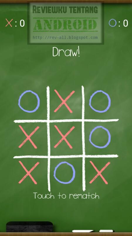 Screenshot mulai bermain permainan CHALK TIC TAC TOE oleh rev-all.blogspot.com