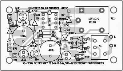 Simple Hybrid Solar Charger Circuit Diagram
