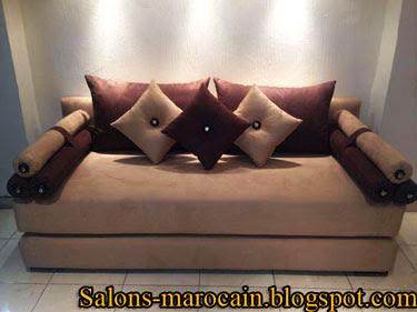 canap fauteuil pour les salons marocains moderne 2013 f1 - Decoration Salon Moderne 2013 En Marron