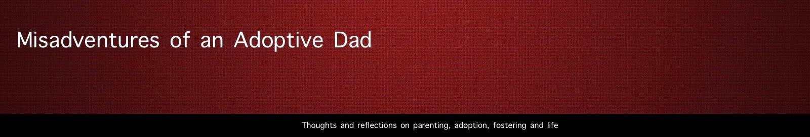 Misadventures of an Adoptive Dad