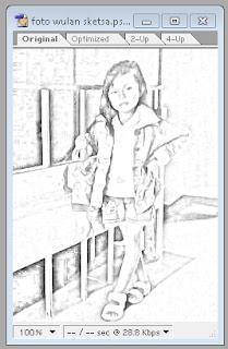 tutorial singkat merubah foto menjadi gambar sketsa