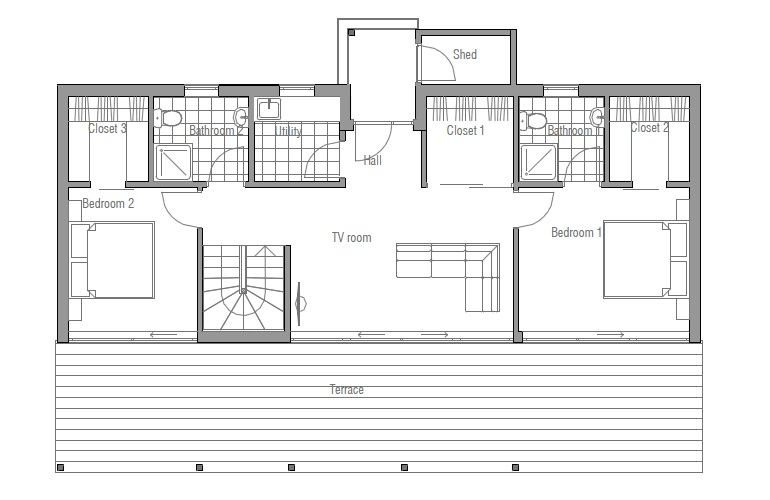 Affordable Modern House Plans Contemporary House Plans Affordable Small House Plan Ch128