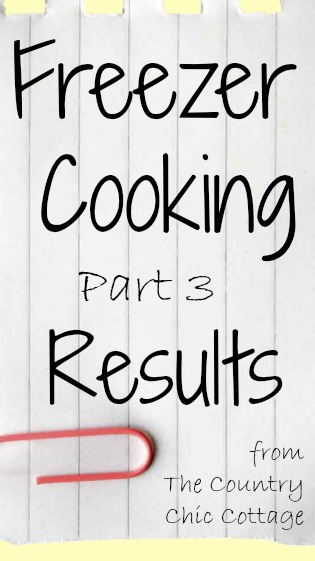 Freezer Cooking Results -- get the real deal on whether freezer cooking worked for a REAL family!
