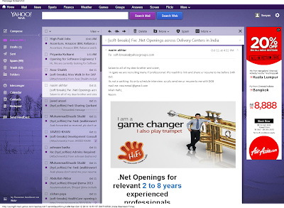 Yahoo Mail New UI Themes Look