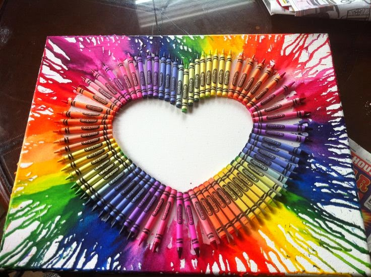 Brie 39 s diy crafts melted crayon splatter canvas for Crayon diy canvas