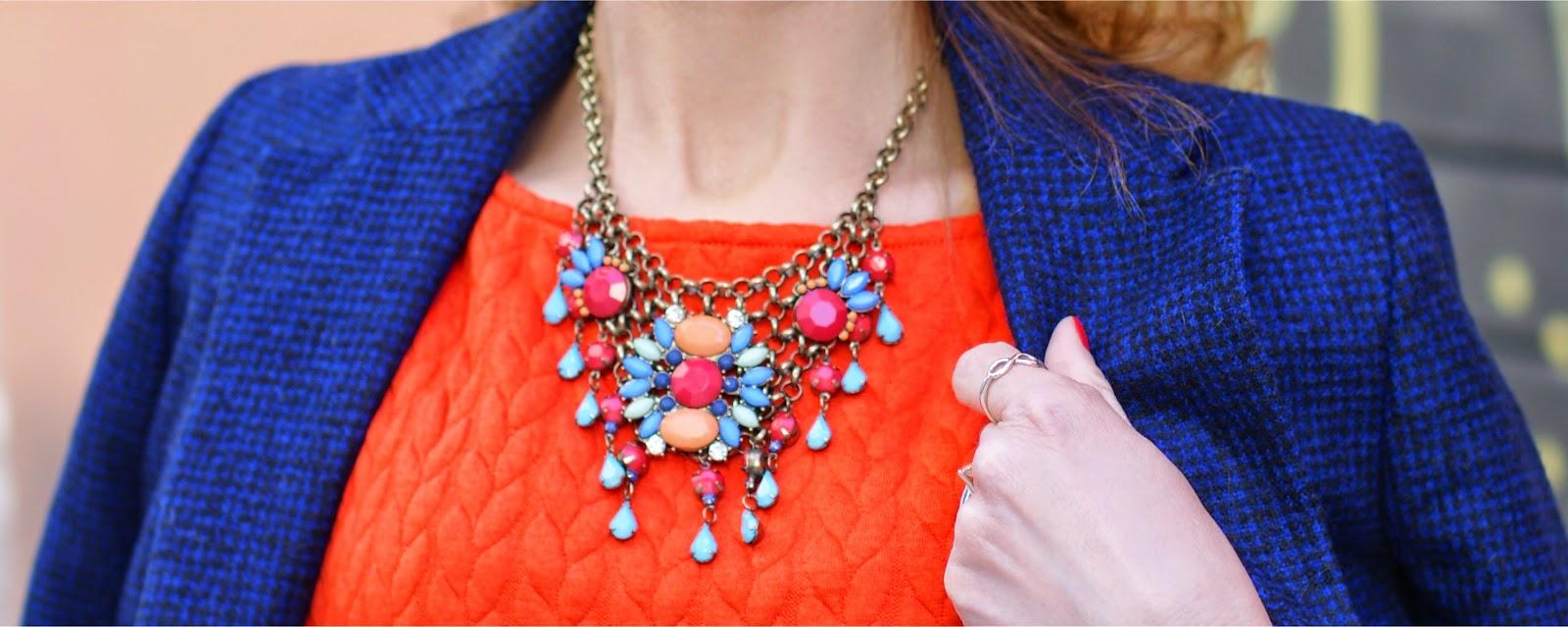 Helene Berman coat, bijou brigitte necklace, Fashion and Cookies fashion blog, fashion blogger