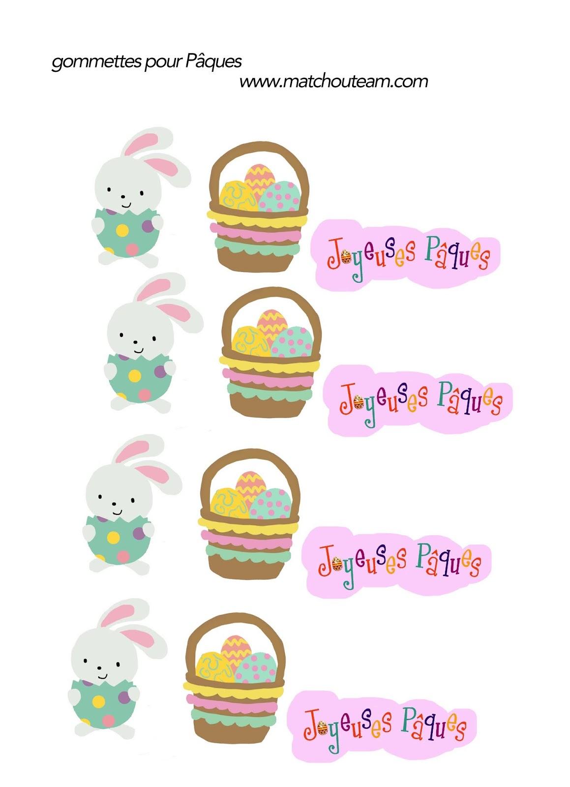 gommettes pour Pâques