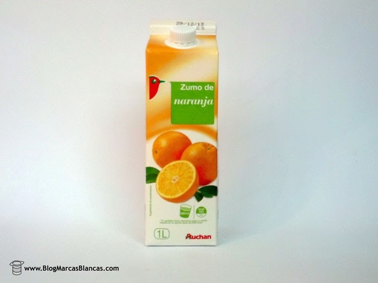 Zumo de naranja exprimida Auchan de Alcampo.