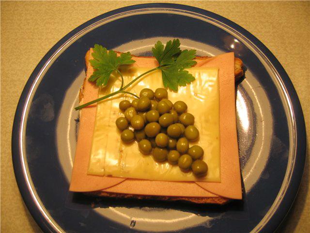 Бутерброд - Виноград