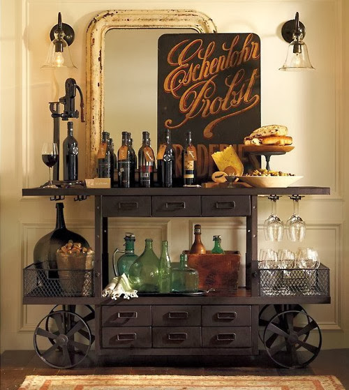 Rustic Drink Cart