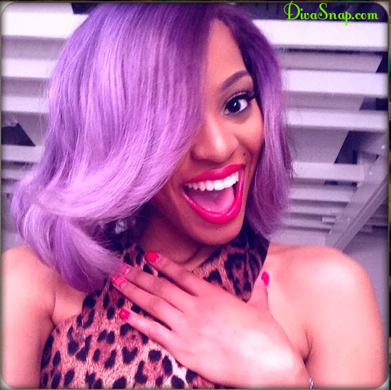 HAIR DIVA: 'YAAS  HUNTY' BRIANNA PERRY STEP OUT IN THE COLORFUL TREND - DivaSnap.com