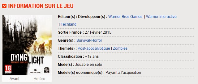 information sur Dying Light
