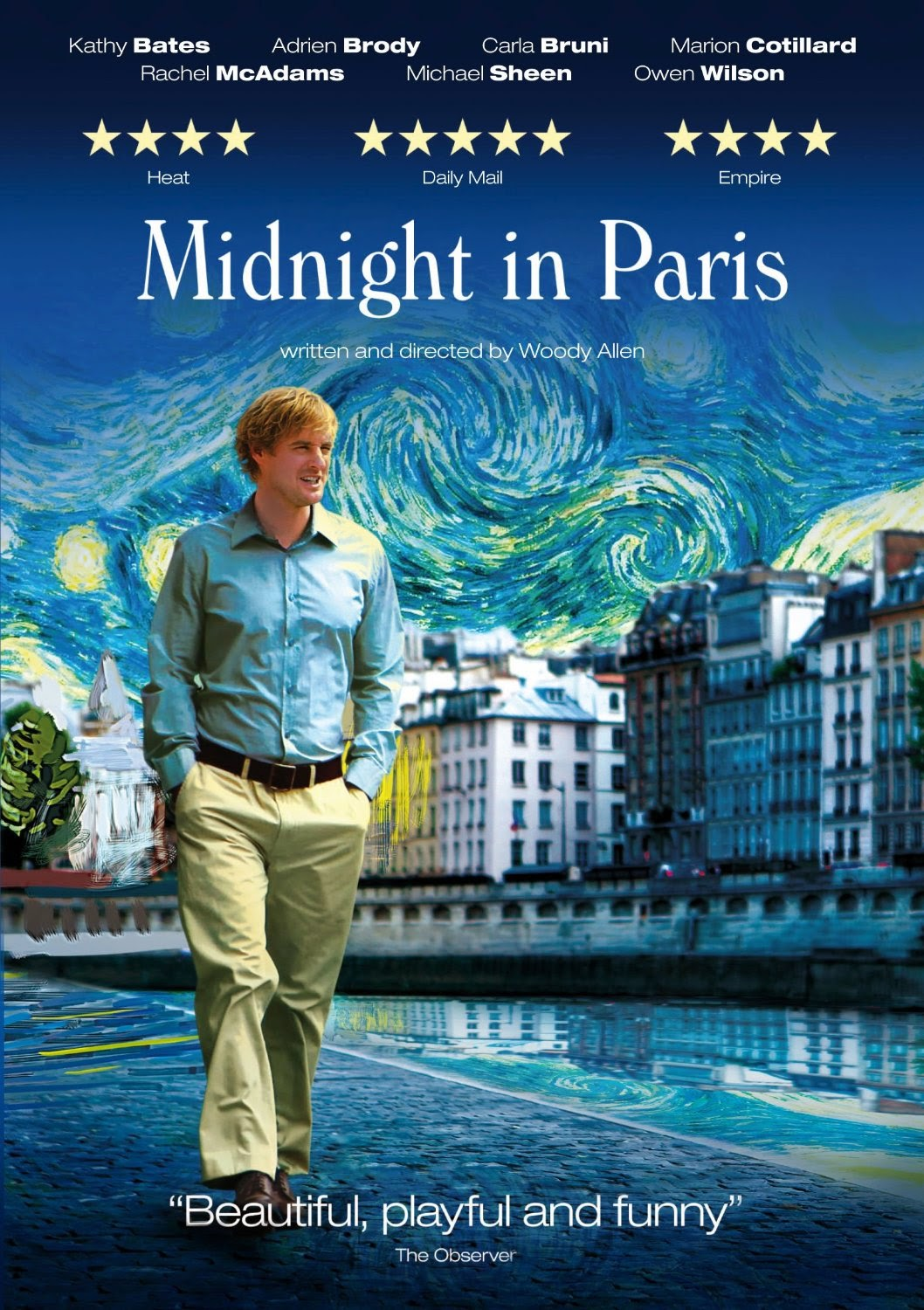 Midnight in Paris film cover