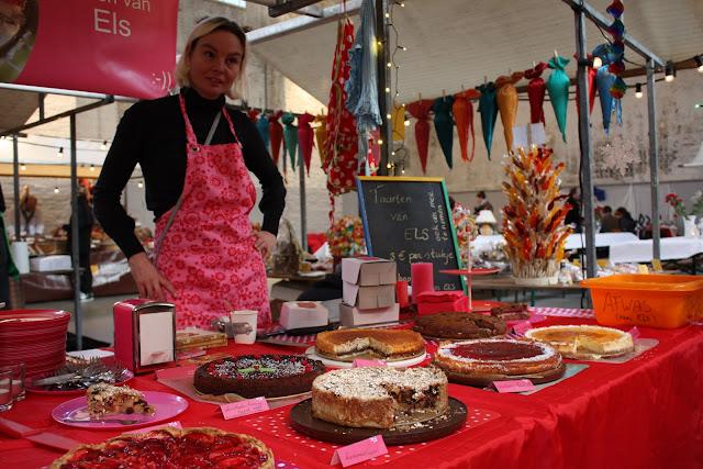 Neighbourfood, markt, taart, els, roze