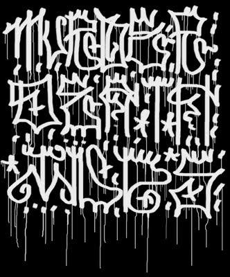Airbrush-Sketches-Black-and-White-Fonts-Matrix