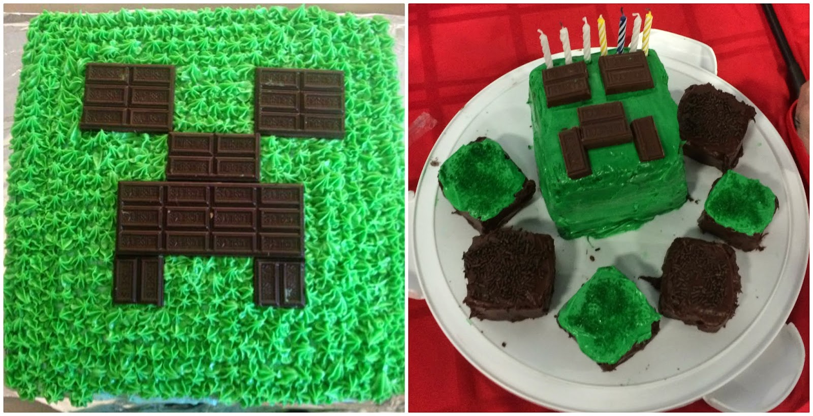 How To Make A Minecraft Cake Without Fondant