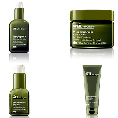 Dr. Andrew Weil for Origins Mega-Mushroom Collection, Dr. Andrew Weil for Origins Mega-Mushroom Skin Relief Face Cream, Dr. Andrew Weil for Origins Mega-Mushroom Skin Relief Advanced Face Serum, Dr. Andrew Weil for Origins Mega-Mushroom Skin Relief Eye Serum, Dr. Andrew Weil for Origins Mega-Mushroom Skin Relief Face Mask, skin, skincare, skin care, beauty giveaway, A Month of Beautiful Giveaways