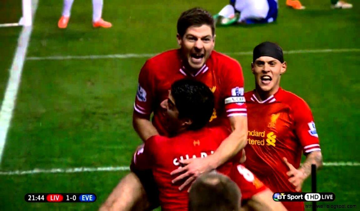 Super slow mo of Steven Gerrard39s goal celebration v Everton