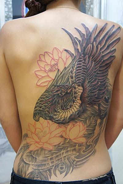 鳳凰 和彫り 刺青 タトゥー TATTOO RED BUNNY TATTOO