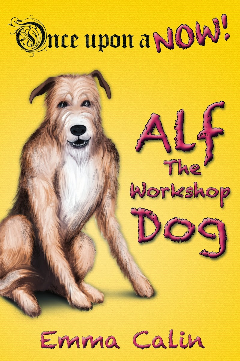 Alf The Workshop Dog cover, cover image, kid's fiction book, kid's book, children's story