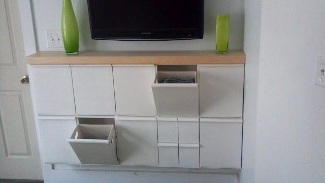 Ikea Grundtal Rail Diameter ~ Ikea hack Recibidor con contenedores de reciclaje Retur  x4duros com