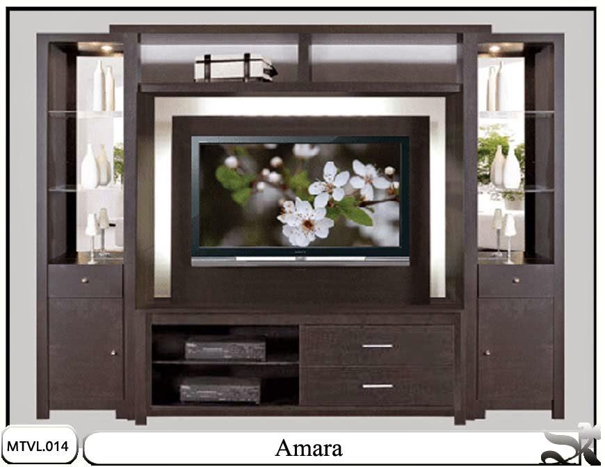 Lemari tv lcd rak minimalis Amara