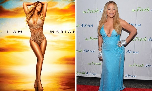Confira o flagra de edição da estrela Mariah Carey