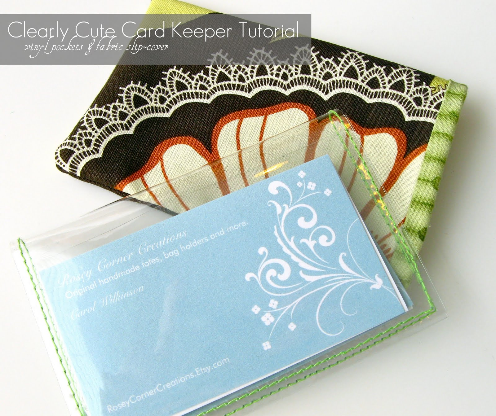 rosey corner creations clearly cute card keeper tutorial clear