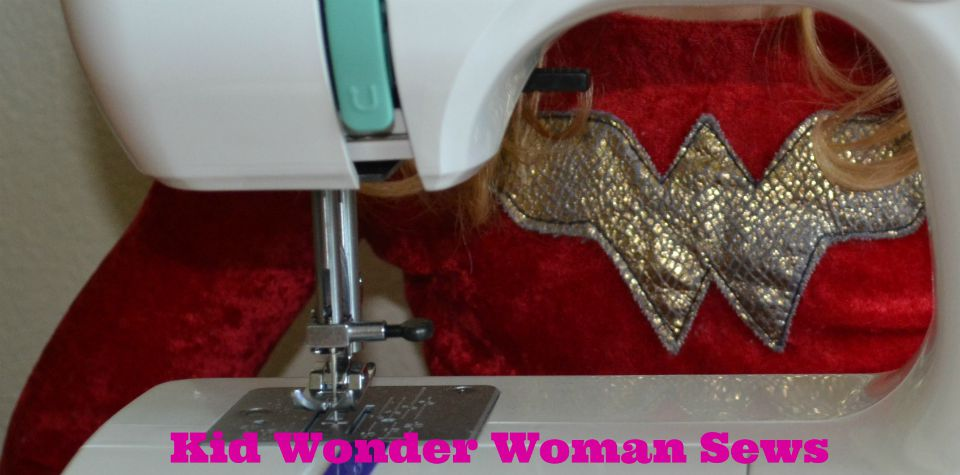 Kid Wonder Woman Sews