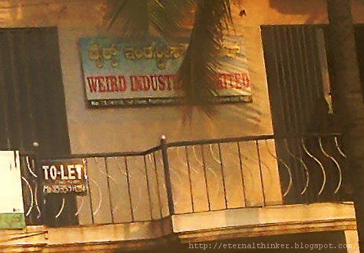 funny sign board bengaluru weird industries