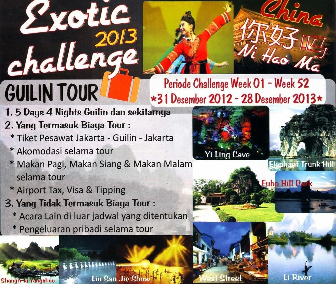 Exotic Challenge - Member Tulipware Tour Ke Beijing China 2014