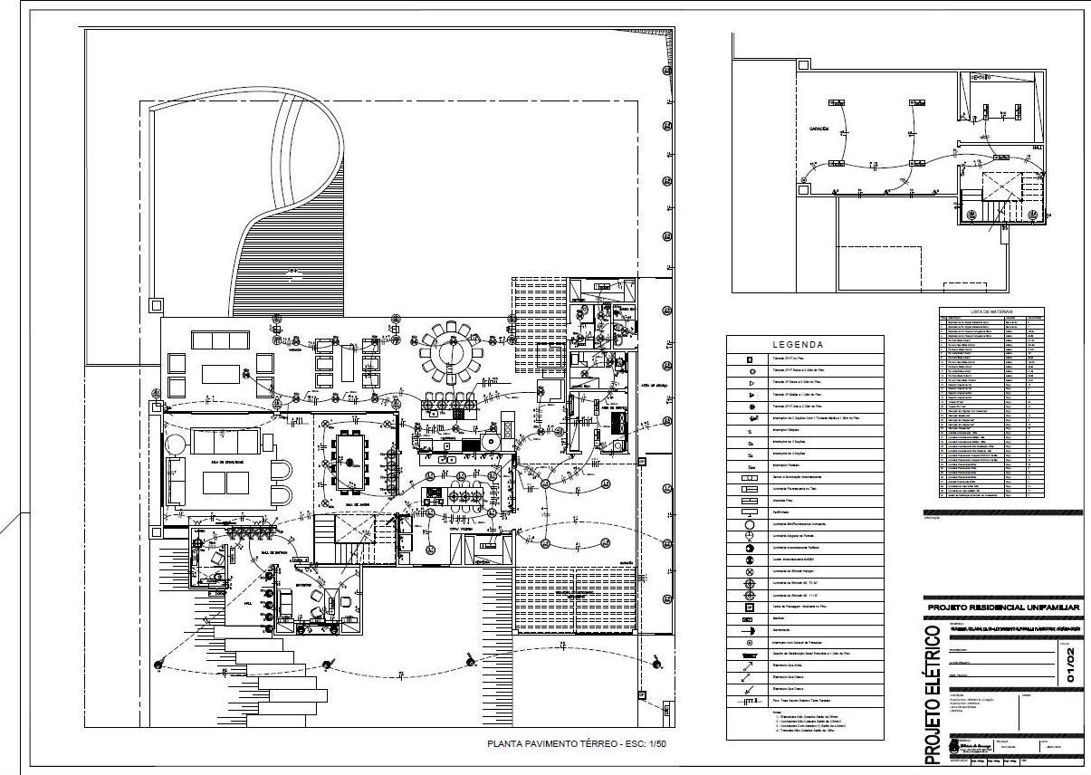 Projetos & Desenhos: Projeto Elétrico #696265 1205 856