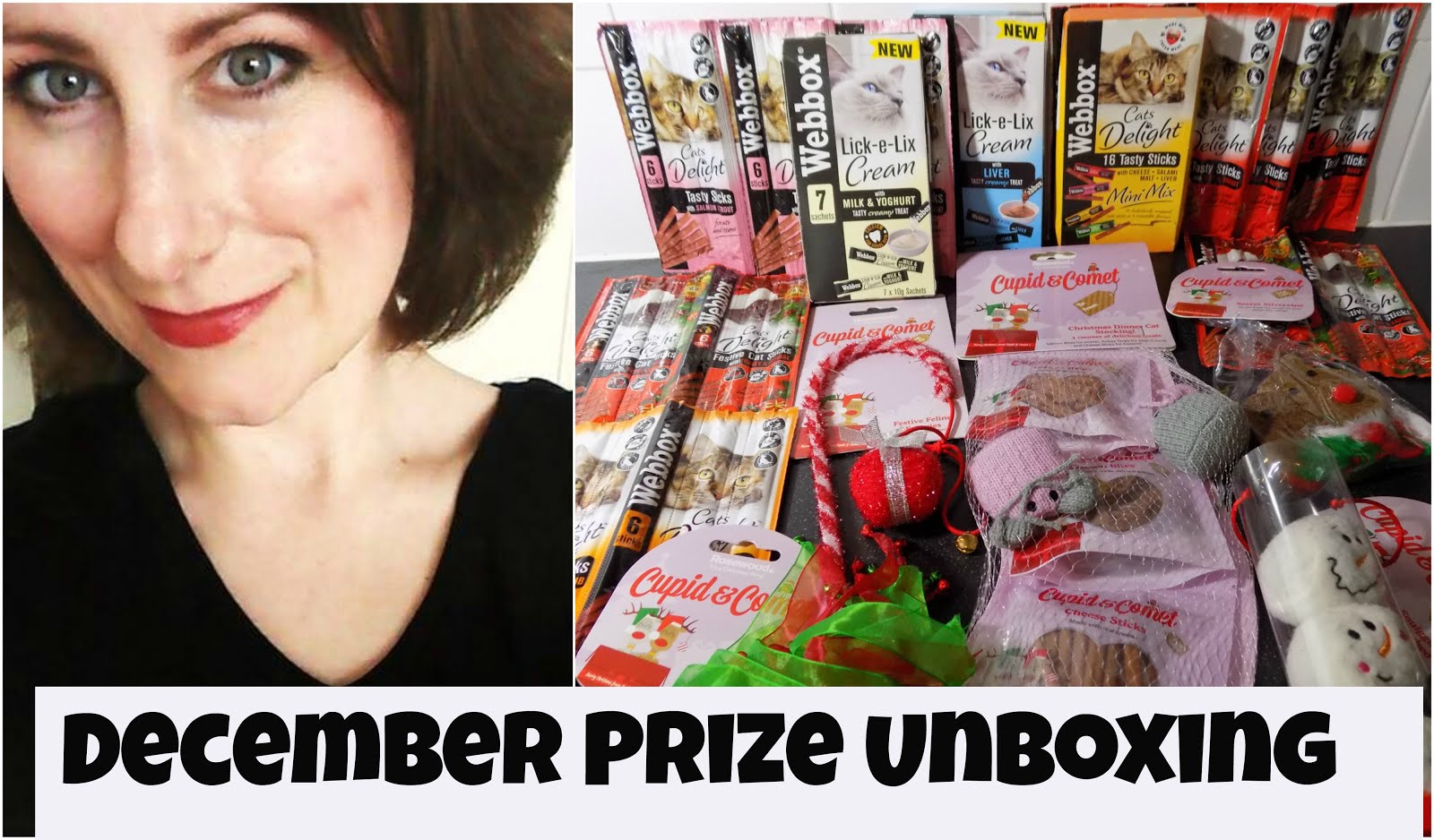 Watch my December Prize Unboxing video