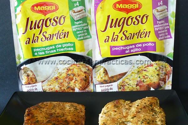 Cocinera en pr cticas jugoso a la sart n de maggi - Papel para cocinar ...