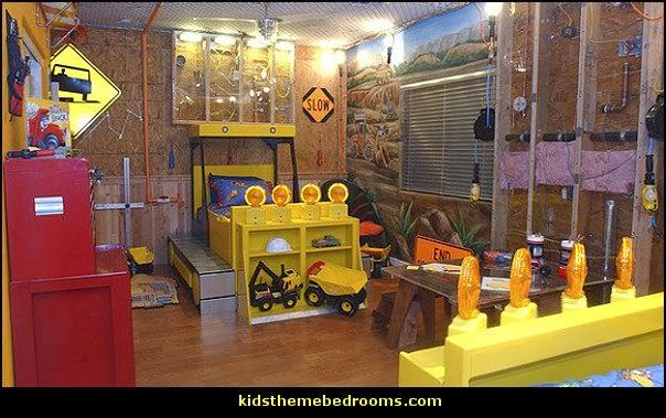 construction theme bedrooms - Lego bedroom furniture - construction trucks  theme bedroom - Lego theme bedroom