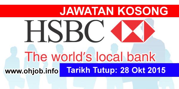 Jawatan Kerja Kosong HSBC Bank Malaysia Berhad logo www.ohjob.info oktober 2015