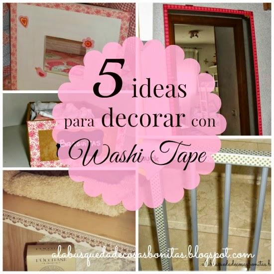 Decorar con washi tape aprender manualidades es - Decorar con washi tape ...