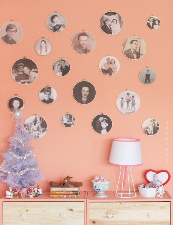 Fun Home Project: Embroidery Hoop Photo Wall